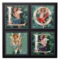 Cherub LOVE Letter Customized Tile | Cherubs | Cherubims | Angels | Guardian Angels | Angelic Beings | 