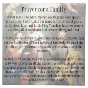 Prayer for a Family Customized Tile