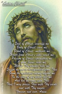 Anima Christi Prayer | Soul of Christ Prayer