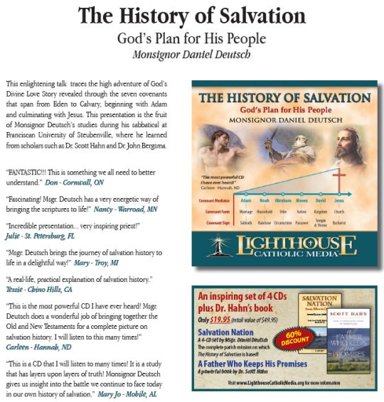 The History of Salvation - God's Plan for His People by Monsignor Daniel Deutsch | Catholic CD of the Month | Catholic MP3 of the Month