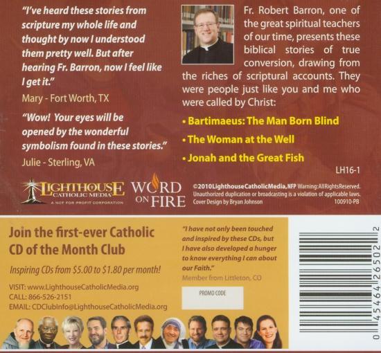 Following the Call of Christ Catholic Faith CD Back Cover | Fr. Robert Barron