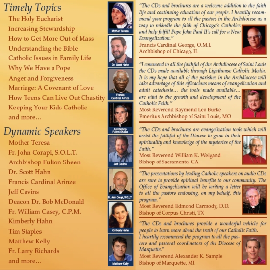 Inspiring Catholic Speakers | New Evangelization | Faithraiser Catholic CDs