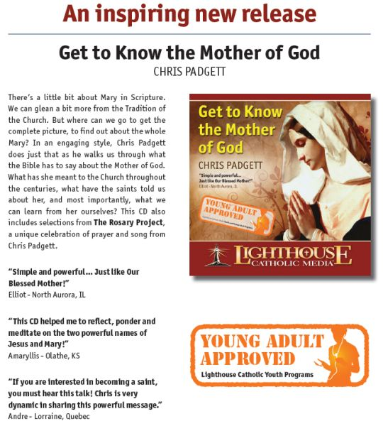 Get to Know the Mother of God by Chris Padgett Catholic CD or MP3