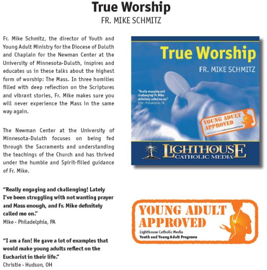 True Worship by Fr. Mike Schmitz Catholic CD or Catholic MP3 | Youth and Young Adult Program