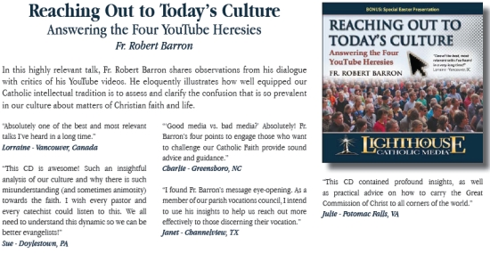 Reaching Out to Today's Culture - Answering the Four YouTube Heresies | Fr. Robert Barron | faith raiser | catholic media | new evangelization | year of faith